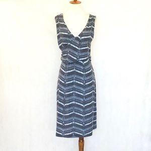 Athleta Sleeveless Gray Pattern Draped Dress